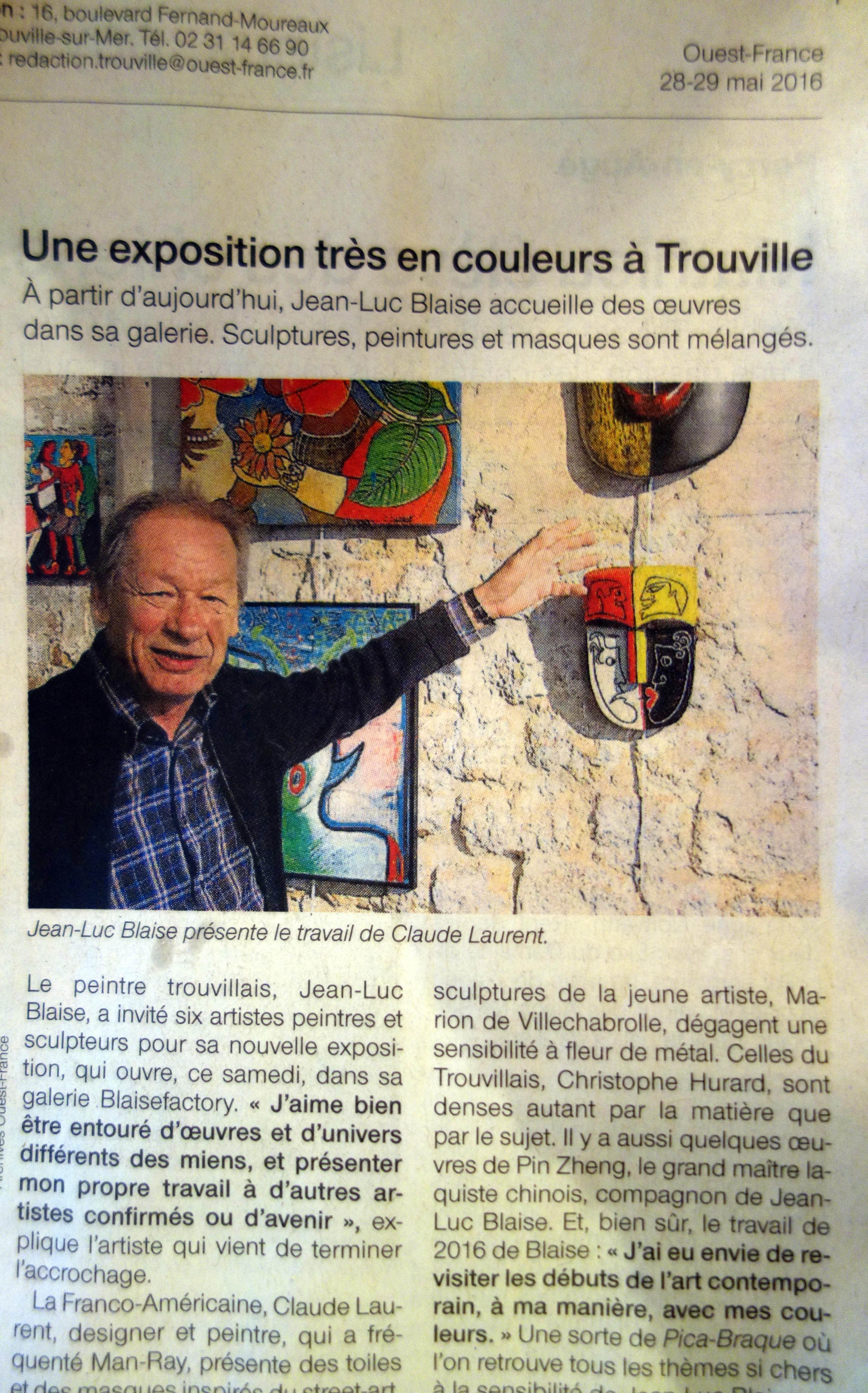 Un petit article dans Ouest France...